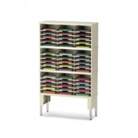 "Office Organizer and Mail Room Sorter 36""W x 12-3/4""D, 45 Pocket Sorter with Lower Leg Riser and 11-1/2""W Shelves"