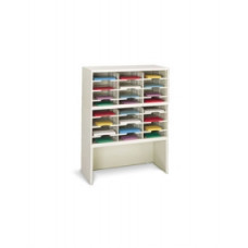 "Office Organizer or Mail Center Sorter 36""W x 15-3/4""D, 24 Pocket Sorter with Riser and 11-1/2""W Shelves"