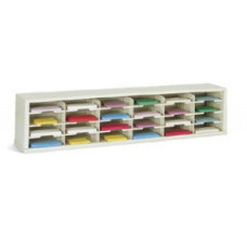 "Mail Room Sorter and Office Organizer 72""W x 12-3/4""D, 24 Pocket Sorter with 11- 1/2""W Shelves"