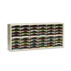 "Mailroom Console and Office Organizer 72""W x 15-3/4""D, 48 Pocket Sorter with 11-1/2""W Shelves"
