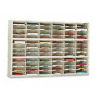 "Office Organizer and Mail Room Sorter 72""W x 12-3/4""D, 72 Pocket Sorter with 11-1/2""W Shelves"