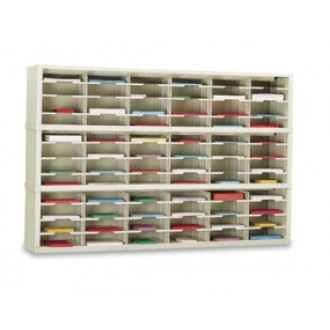 "Mailroom Console and Office Organizer 72""W x 15-3/4""D, 72 Pocket Sorter with 11-1/2""W Shelves"