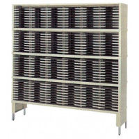 "Mailroom Console and Office Organizer 72""W x 12-3/4""D, 216 Pocket Sorter with Leg Riser and 11-1/2""W x 1""H Pockets"