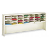 "Mail Room Furniture and Office Organizer 72""W x 15-3/4""D, 28 Pocket Sorter with 9-1/2""W Shelves"