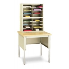 "Mail Room Console and Office Organizer 25""W, 16 Pocket Legal Depth Sorter with 36""W Open Table (Complete!)"