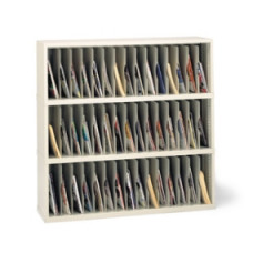 "Mail Room Furniture and Office Organizer 48""W x 15-3/4""D, 45 Pocket Vertical Sorter"