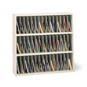 """Mail Room Furniture and Office Organizer 48""""W x 12-3/4""""D, 45 Mail Pockets Vertical Sorter"""