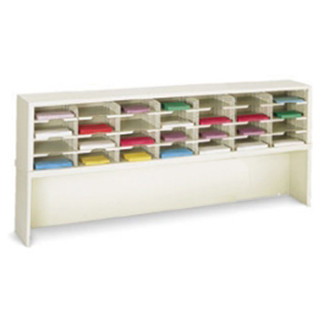 """Mail Room Furniture and Office Organizer 72""""W x 12-3/4""""D, 28 Pocket Sorter with 9-1/2""""W Shelves"""