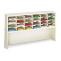 "Mail Room Console and Office Organizer 60""W x 12-3/4""D, 24 Pocket Sorter with 9-1/2""W Pockets with Enclosed Mail Riser"