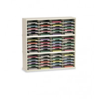 "Mail Room Furniture and Office Organizer 48""W x 12-3/4""D, 60 Pocket Sorter with 11-1/2""W Shelves"