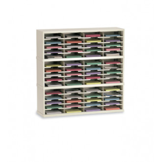 """Mail Room Furniture and Office Organizer 48""""W x 12-3/4""""D, 60 Pocket Sorter with 11-1/2""""W Shelves"""