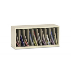 "Mail Room Furniture and Office Organizer 36""W x 12-3/4""D, 10 Pocket Vertical Mail Sorter"