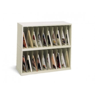 "Mail Room Furniture and Office Organizer 36""W x 12-3/4""D, 20 Pocket Vertical Sorter"