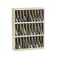 "Mail Room Furniture and Office Organizer 36""W x 12-3/4""D, 30 Pocket Vertical Sorter"