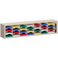 "Mail Room Sorter and Office Organizer 72""W x 15-3/4""D, 28 Pocket Sorter with 9-1/2""W Mail Sorting Shelves"