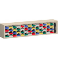 """Mail Sorter and Office Organizer 72""""W x 12-3/4""""D, 52 Mail Pocket Sorter with 5""""W Shelves"""