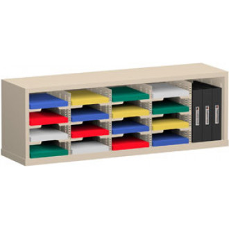 "Mail Room Sorter and Office Organizer 48""W x 12-3/4""D, 16 Pocket Sorter with 9-1/2""W Mail Sorting Shelves"