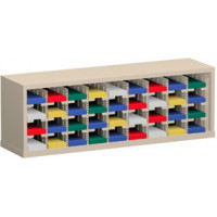 "Mail Room Sorter and Office Organizer 48""W x 12-3/4""D, 36 Pocket Sorter with 5""W Mail Sorting Shelves"