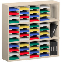 "Office Organizer and Mail Room Sorter 48""W x 15-3/4""D, 48 Pocket Sorter with 9-1/2""W Mail Sorting Shelves"