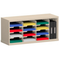 "Mail Sorter and Office organizer 36""W x 15-3/4""D, 12 Pocket Sorter with 9-1/2""W Mail Sorting Shelves"