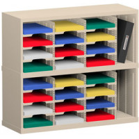 "Mail Room Sorter and Office Organizer 36""W x 12-3/4""D, 24 Pocket Sorter with 9-1/2""W Mail Sorting Shelves"