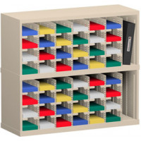 "Mail Room and Office Organizer 36""W x 12-3/4""D, 48 Pocket Sorter with 5""W Mail Sorting Shelves"
