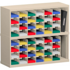 """Mail Room and Office Organizer 36""""W x 12-3/4""""D, 48 Pocket Sorter with 5""""W Mail Sorting Shelves"""