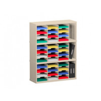 "Mail Room Sorter and Office Organizer 36""W x 15-3/4""D, 36 Pocket Sorter with 9-1/2""W Mail Sorting Shelves"