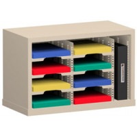 "Office Organizer and Mail Room Sorter 25""W x 15-3/4""D, 8 Pocket Sorter with 9-1/2""W Mail Sorting Shelves"