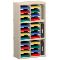 "Mail Room Sorters and Office Organizers 25""W x 15-3/4""D, 24 Pocket Mail Sorter with 9-1/2""W Adjustable Mail Sorting Shelves"