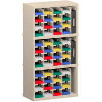 "Office Organizer and Mail Room Sorter 25""W x 12-3/4""D, 48 Pocket Sorter with 5""W Mail Sorter Shelves"