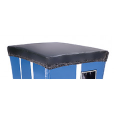 Mail Room Supplies Black Cover For Mail Hampers (Black)