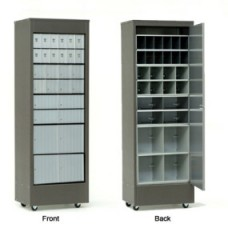 Mailbox Cabinet Roll-Around Rear Loading w/28 Mailboxes