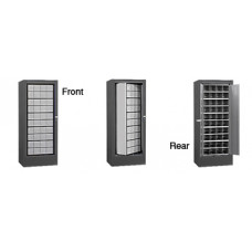 Mailbox Cabinet Rotating Front Loading w/40 Mailboxes