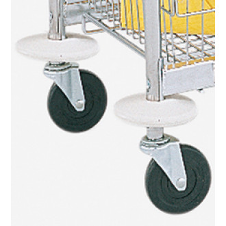 "Mail Room and Office Cart Supplies 5"" Donut Bumpers (Pair)"