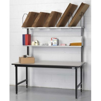 """Packaging and Manifest Station 68"""" x 33"""" with Adjustable Shelves"""