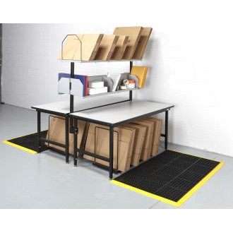 """Packing Station and Manifest Console 68"""" x 33"""" Back to Back Packing Station"""