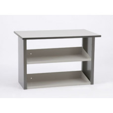 "Mailroom Table 30""D x 60""W Economy Table with Lower Shelves"