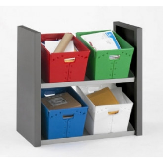 Mail Room Furniture Compact Two Shelf Tote Sorter