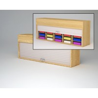 "Mailroom Security Sorters in Custom Color Wood 64-1/2""W Wood Sorter - 20 Pocket."
