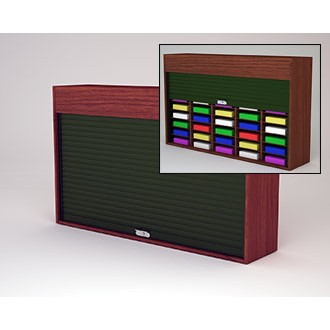"Mailroom Security Sorters in Custom Color Wood 64-1/2""W Wood Sorter - 40 Pocket."