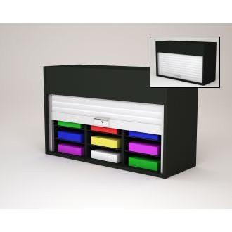 "Mailroom Security Sorters in Custom Color Wood 40""W Wood Sorter - 12 Pockets."