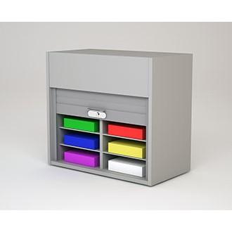 "Mailroom Security Sorters in Custom Color Wood 27-3/4""W Wood Sorter - 8 Pocket."