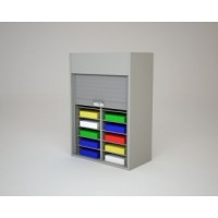 "Mailroom Security Sorters in Custom Color Wood 27-3/4""W Wood Sorter - 16 Pockets."