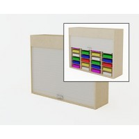 "Mailroom Security Sorters in Custom Color Wood 52-1/4""W Wood Sorter - 32 Pocket."