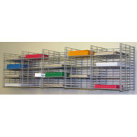 "Mail Room Sorter and Office Organizer Wall Mount 20 Pocket Wire Mail Sorter - 12""D"