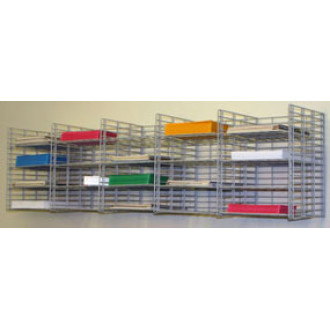 """Mail Room Sorter and Office Organizer Wall Mount 20 Pocket Wire Mail Sorter - 12""""D - FREE Quantity Shipping!"""