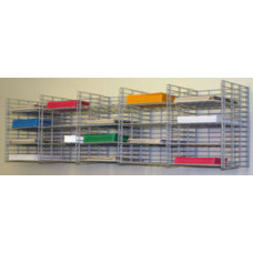 "Mailroom Mail Sorter and Office Organizer Wall Mount 20 Pocket Wire Mail Sorter - 15""D"