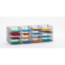 "Mail Room Sorters and Office Organizers-48""W x 12""D, 16 Pocket Wire Mail Sorter, Letter Depth"