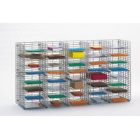 "Mailroom Sorters and Office Organizer s60""W x 12""D, 40 Pocket Wire Mail Sorter"